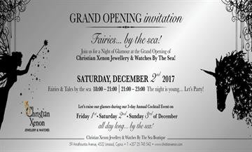 Invitation- Annual Xmas Cocktail Party & Grand Opening New Boutique