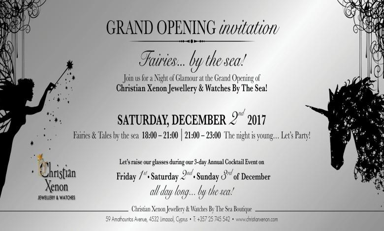 Christian Xenon Limassol: Annual Christmas Cocktail Party & Grand Opening of the New Boutique